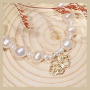 訂製姓名首飾-花草系珍珠手鍊串飾