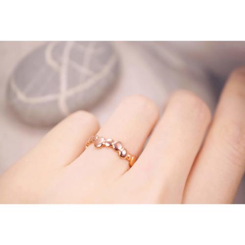 時間之詩-小石子玫瑰金戒指