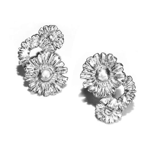 小花園系列-小雛菊耳環/925銀