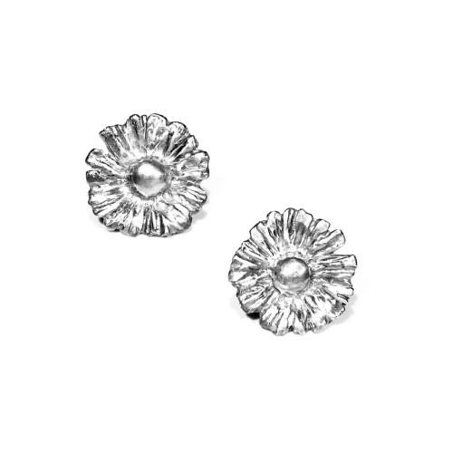 小花園系列-一朵小雛菊耳環/925銀